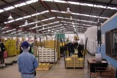 L'Équipe d`experts en visite d'une usine de classification-emballage au Mexique.