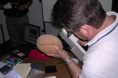 Measuring fruit color in mamey sapote.